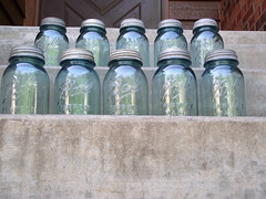 Aqua Blue Vintage Ball Quart Mason Jars photo by ToryLarson08