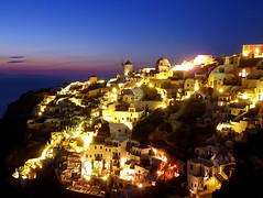 Blue hour in Oia, Santorini photo by Frans.Sellies