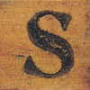 rubber stamp handle letter S