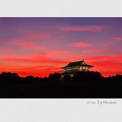 大極殿 夕焼け photo by Eiji Murakami
