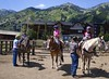 Kids Ranch campers get ready for a horseback ride in Teton Village.