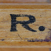 rubber stamp handle letter R