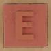 Rubber Stamp Letter E