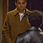Kareem Bandealy (Mick) and Anish Jethmalani (Aston) in THE CARETAKER.  Photo by Michael Brosilow.