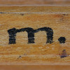 rubber stamp handle letter m
