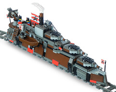 """Armada-Class"" Heavy Steam Railship Mk. LXVI (front) photo by Ɍaillery"