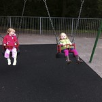 Amy & Maisy on the swings<br/>13 Oct 2011