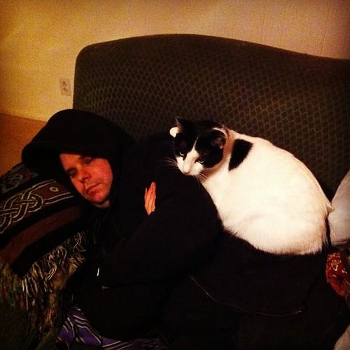 Me cat pant and Haru