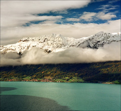 Morning after the storm - Lake Brienz - Brienzersee - Giessbach photo by Katarina 2353