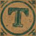 Vintage Wooden Block Letter T