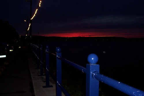 The sunset from Mumbles pier