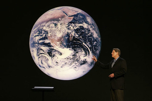 Al Gore attempts a Healing of the Hands on the world.