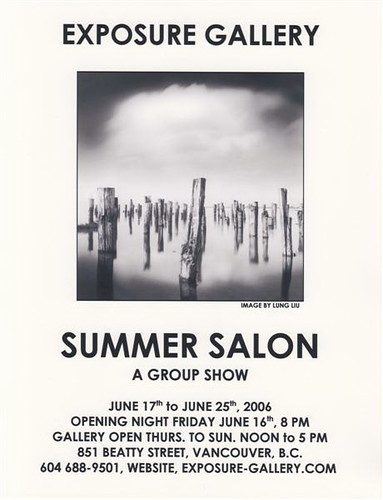 Exposure Gallery Summer Salon flyer