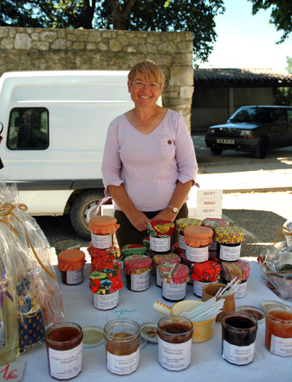 Market stall, Grignan, France, June 2006
