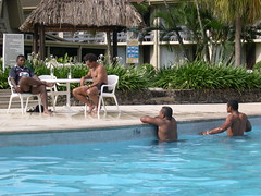 Fiji rugby in the pool