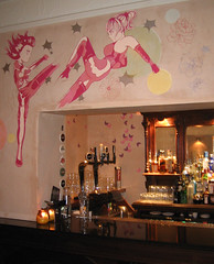Back room bar in the Dragonfly bar, Edinburgh