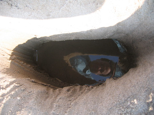 Jeremy's reflection in the trench