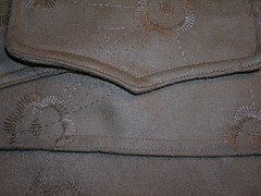 close up of topstitching
