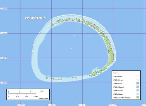 Nukuoro Atoll - Map