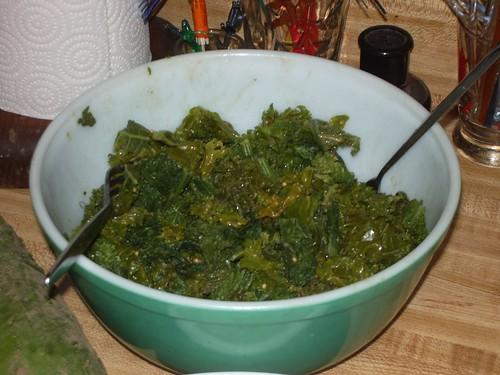 mustardgreenskalesalad