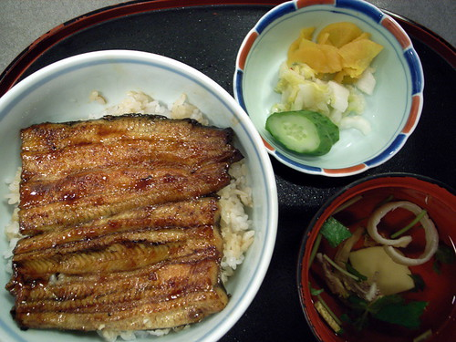 うな丼(bowl of rice topped with broiled eel)