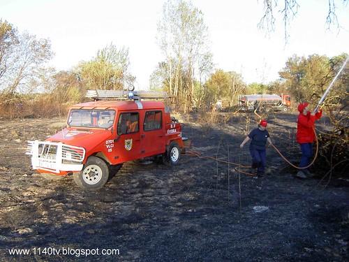 UMM longo em acção durante incêndio florestal