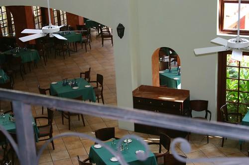 Above the restaurant