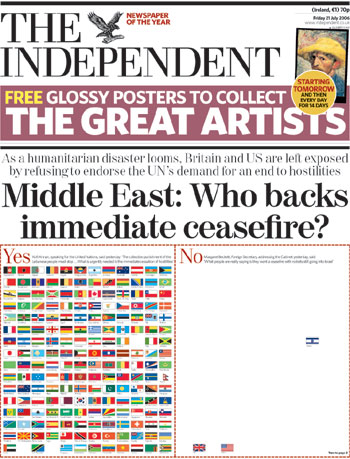 Who backs immediate ceasefire?