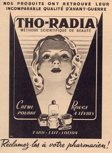 Art Deco: Tho-Radia cosmetics ad