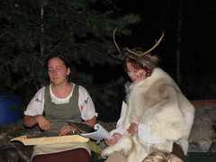 Singing accompanied by a kantele