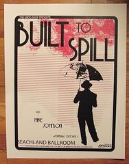 built to spill screenprint gig poster