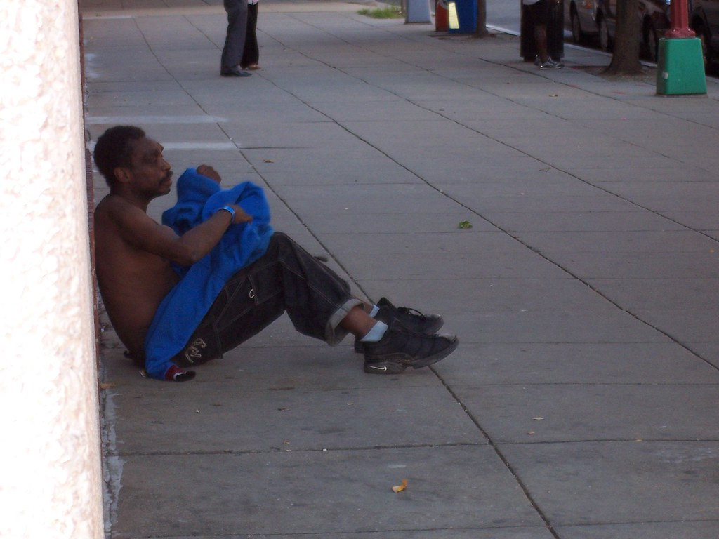 Drunken street person
