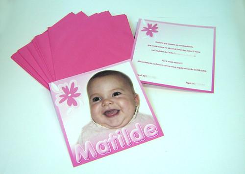Convite Matilde