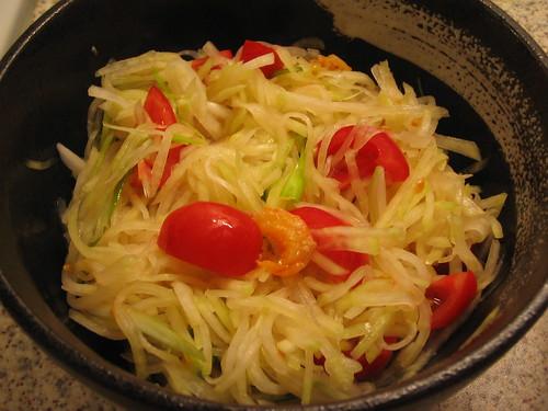 Thai style kohl robi salad