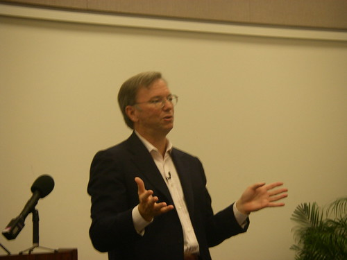 Google CEO Eric Schmidt Chats to the Press