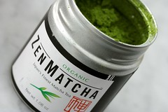 matcha ($30 an ounce!)