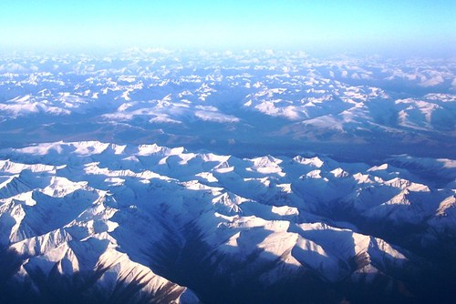 View of Tibetan plateau from airplane - May 2006