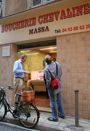 horse butcher in Nice