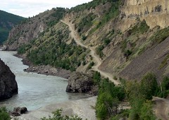 Telegraph Creek Road and River