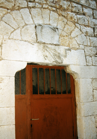 Paralia Astros, doorway of house