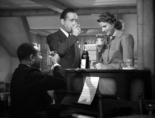 Casablanca toasting with champagne