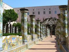 Majoliques du cloître des Clarisses à Naples