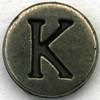 Pewter Letter K