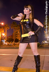 This sexy Bat Woman takes on San Diego by night. Comic-Con 2011 photo by andreas_schneider
