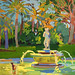 'The children of the fountain'; 33x25cm; Gouache on board