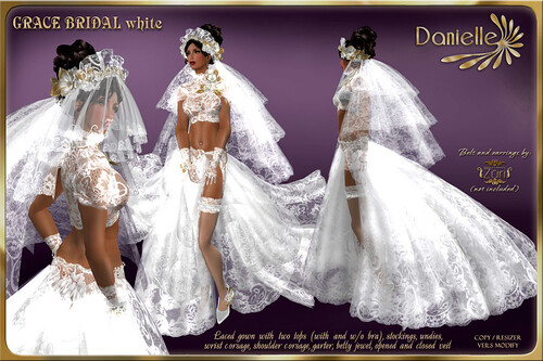 DANIELLE Grace Bridal White