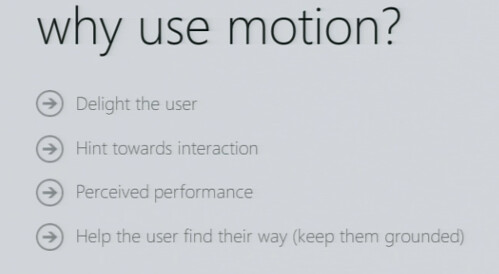 why use motion?