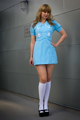powder blue mini mod dress- xs photo by SalonMystique