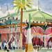 'The Byass Gonzalez pavillion'; Watercolour on paper; 35x20cm