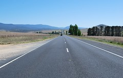 Monaro Highway between Cooma and Canberra